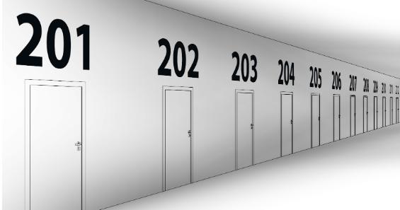Číslování dveří v Dynamu