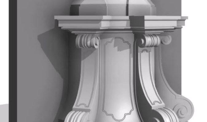 Ukázka 3D modelu podstavce pod sochou