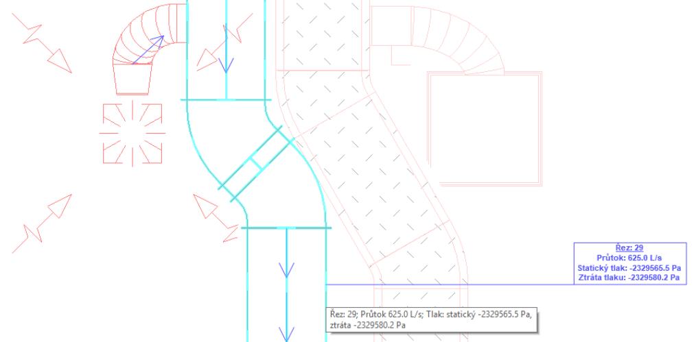 Informace na potrubí po použití inspektor systému