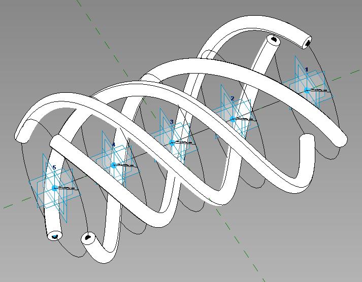 Šroubovice pomocí Adaptivní komponenty